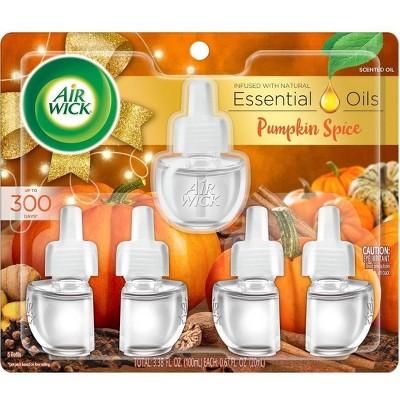 Air Wick Scented Oil Refill Air Freshener - Pumpkin Spice - 5pk/3.38oz