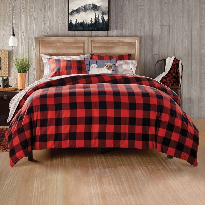 Buffalo Check Comforter Set Red - G.H. Bass