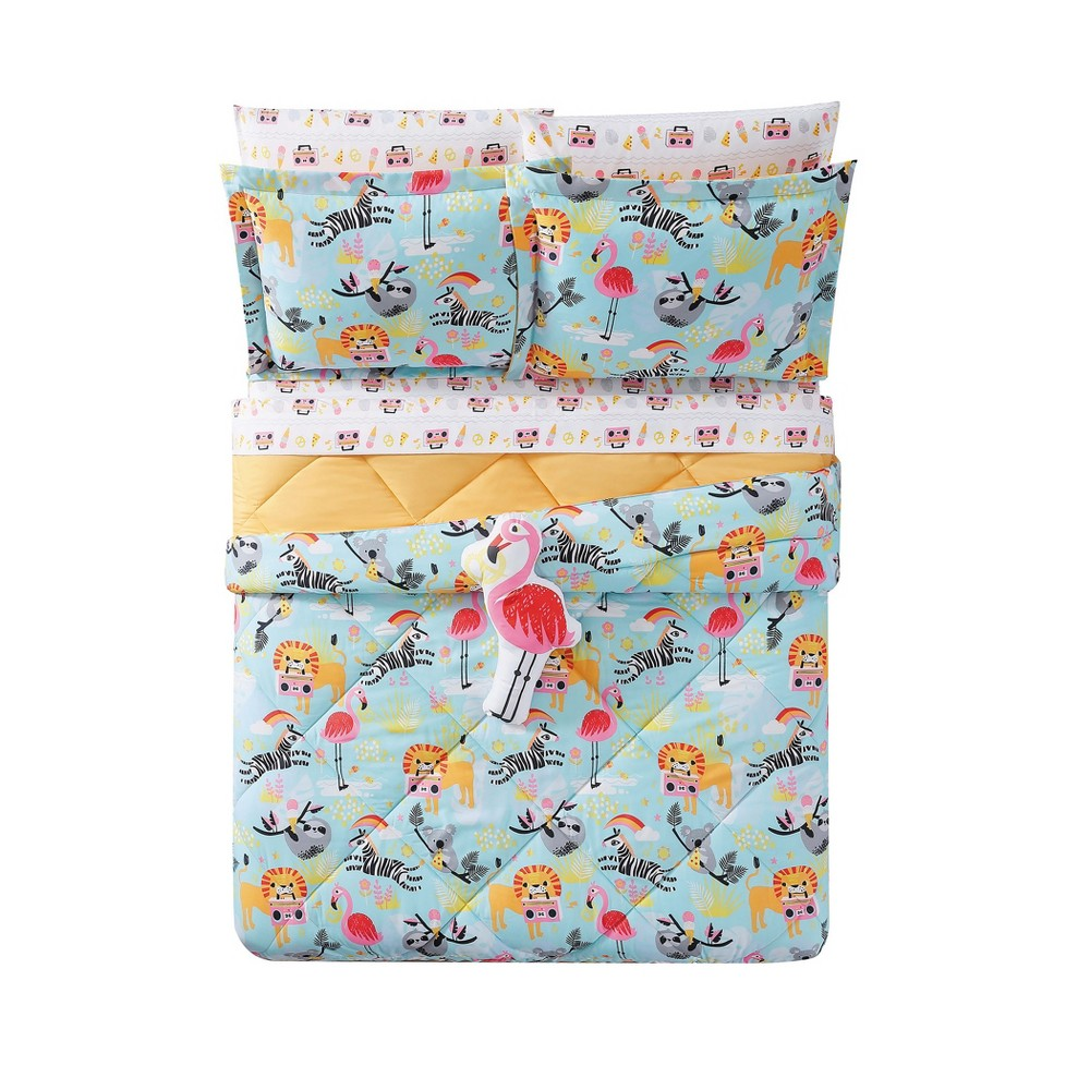 Full/Queen Party Animals Comforter Set - My World, Multicolored