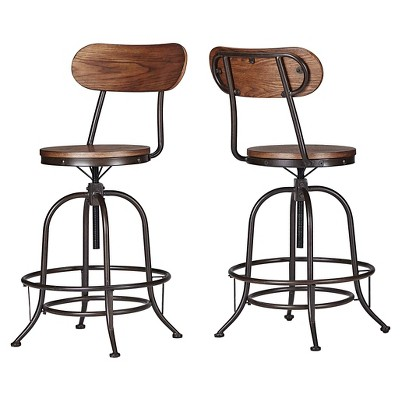 Mason Adjustable Swivel Barstool (Set Of 2)   Inspire Q : Target