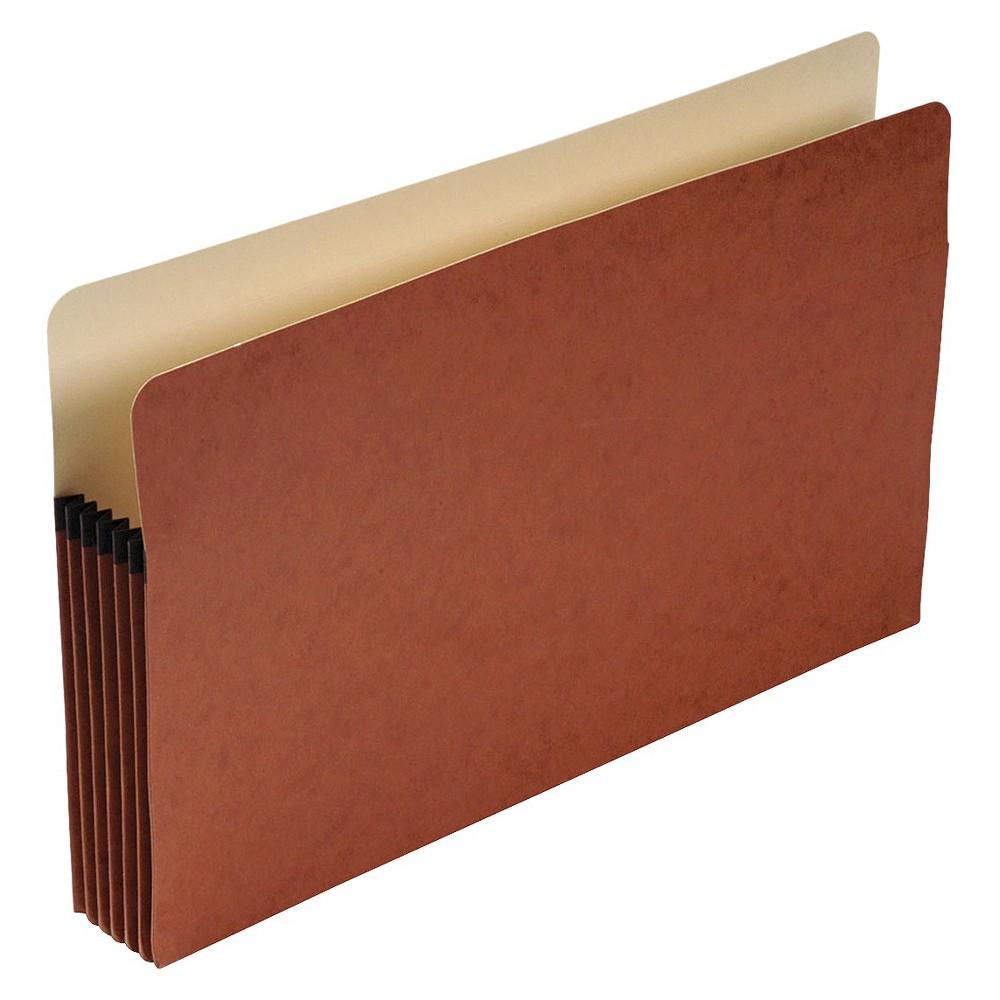 Pendaflex 5 1/4 Inch Expansion File Folders Pocket, Legal Size, Brown