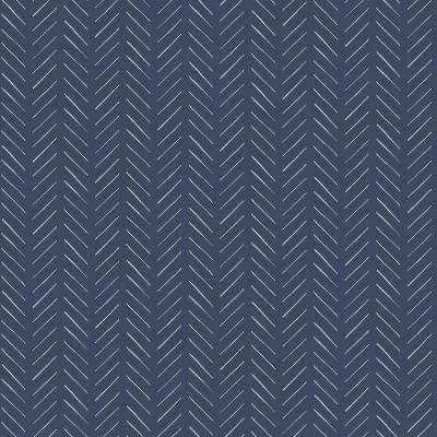 RoomMates Pick-Up Sticks Magnolia Home Wallpaper Blue