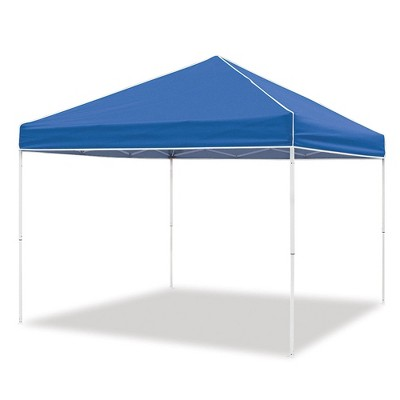 Z-Shade 10 x 10 Foot Everest Instant Canopy Outdoor Camping Patio Shelter with Reliable Stakes, Steel Frame, and Roller Bag, Blue