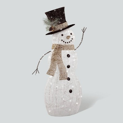 Philips 42in Glitter Snowman Christmas LED Novelty Sculpture Pure White Twinkle Lights