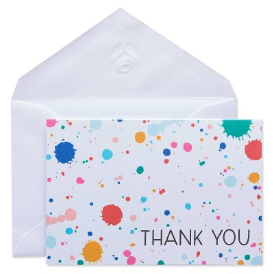 50ct Thank You Carlton Cards with Envelopes Rainbow