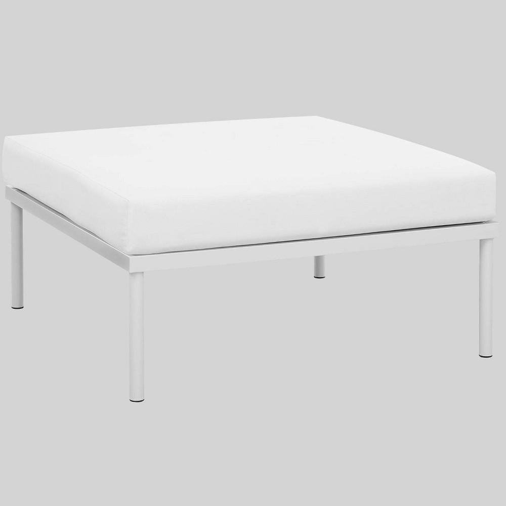 Astounding Harmony Aluminum Outdoor Patio Ottoman White Modway Creativecarmelina Interior Chair Design Creativecarmelinacom