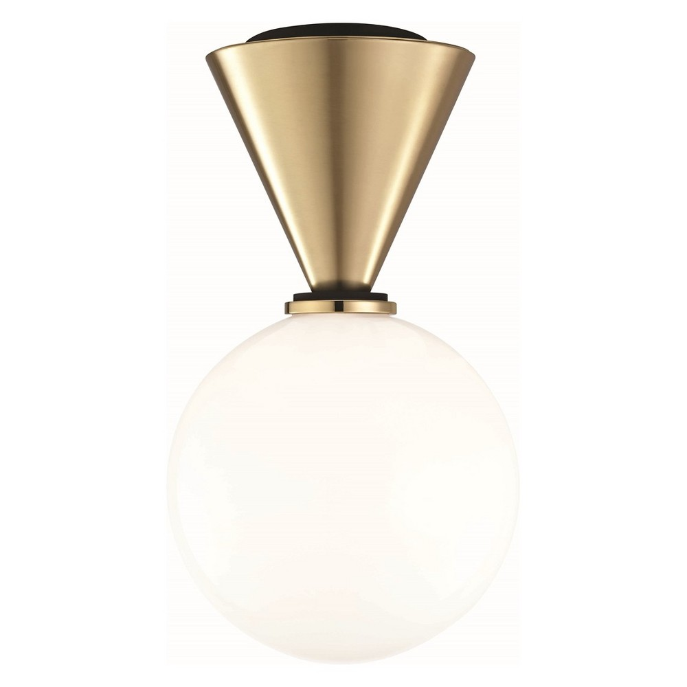 Piper Small Led Flush Mount Brass - Mitzi by Hudson Valley