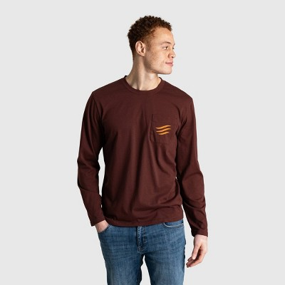 Men's United By Blue Logo Waves Long Sleeve Graphic T-Shirt