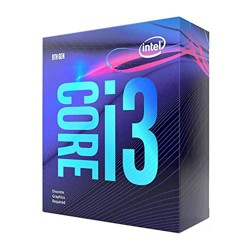 Intel Core i3-9100F Desktop Processor - 4 cores & 4 threads - Up to 4.2 GHz - Discrete graphics required