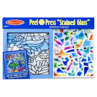 Melissa & Doug Stained Glass Peel & Press Assortment