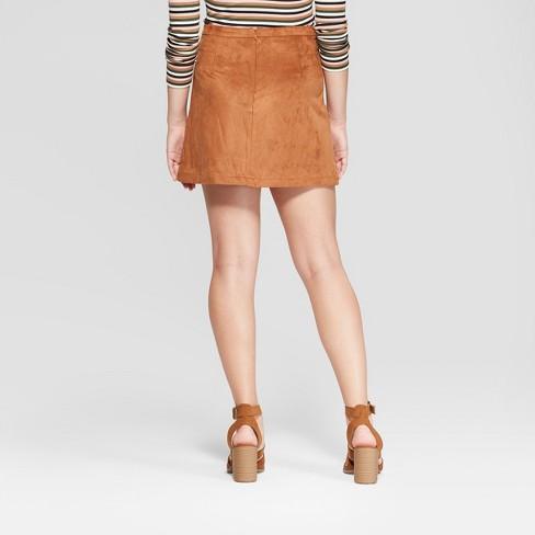 48ea5f0c34 Women's Suede Wrap Mini Skirt - 3Hearts (Juniors') Cognac : Target