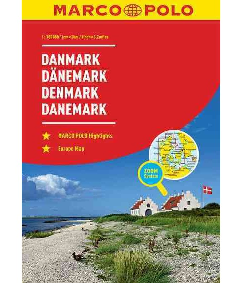 Marco Polo Road Atlas Denmark (Paperback) - image 1 of 1