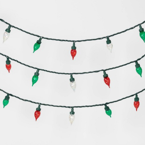 35ct LED Faceted Flame String Lights Red & Green with Green Wire - Wondershop™ - image 1 of 2