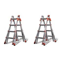 Little Giant Ladder Systems 17' Type IA Aluminum Multi Position Ladder (2 Pack)