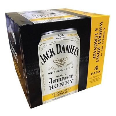 Jack Daniel's Tennessee Whiskey, Honey & Lemonade Cocktail - 4pk/355ml Cans