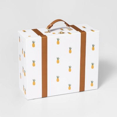 Large Paper Box Suitcase Yellow - Pillowfort™