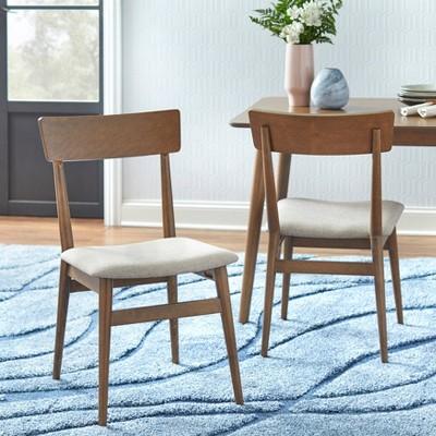 Set of 2 Newington Dining Chairs Walnut/Mocha - Buylateral