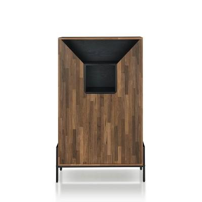 Vargo 8 Shelf Shoe Cabinet Reclaimed Oak - miBasics
