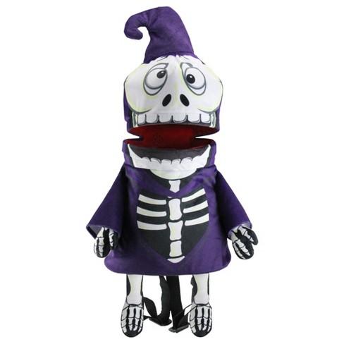 Northlight Musical Animated Skeleton Children's Halloween Trick or Treat Bag - image 1 of 4