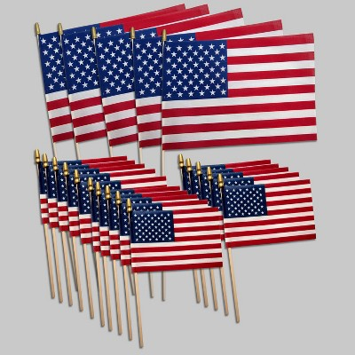 Valley Forge Flag 5ct Large American Flags with 15ct Small Flags