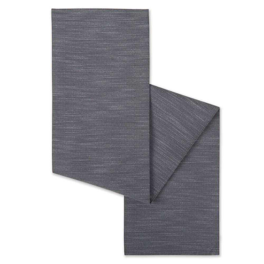 "Image of ""15""""X72"""" Harper Table Runner Gray - Town & Country Living"""