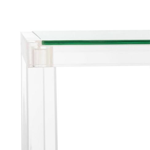 Benji Acrylic Console Table Clear - Safavieh