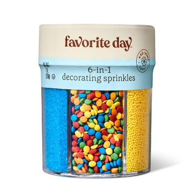 Rainbow 6 Cell Sprinkle Mix - 7oz - Favorite Day™