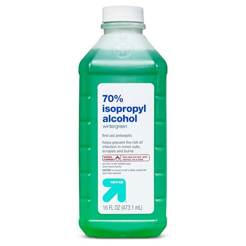 Isopropyl 70% Alcohol Antiseptic - Wintergreen scent - 16oz - Up&Up™ - image 1 of 2