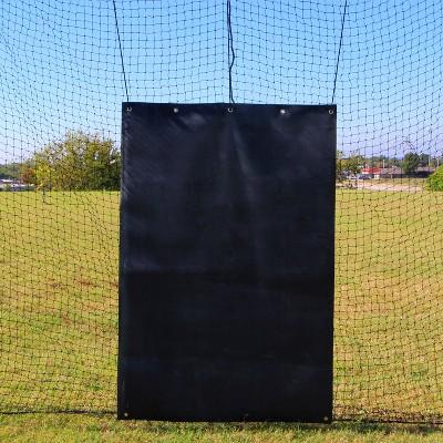 Cimarron 5 x 7 Foot Baseball Softball Batting Cage Netting Rubber Backstop Net Saver, Black