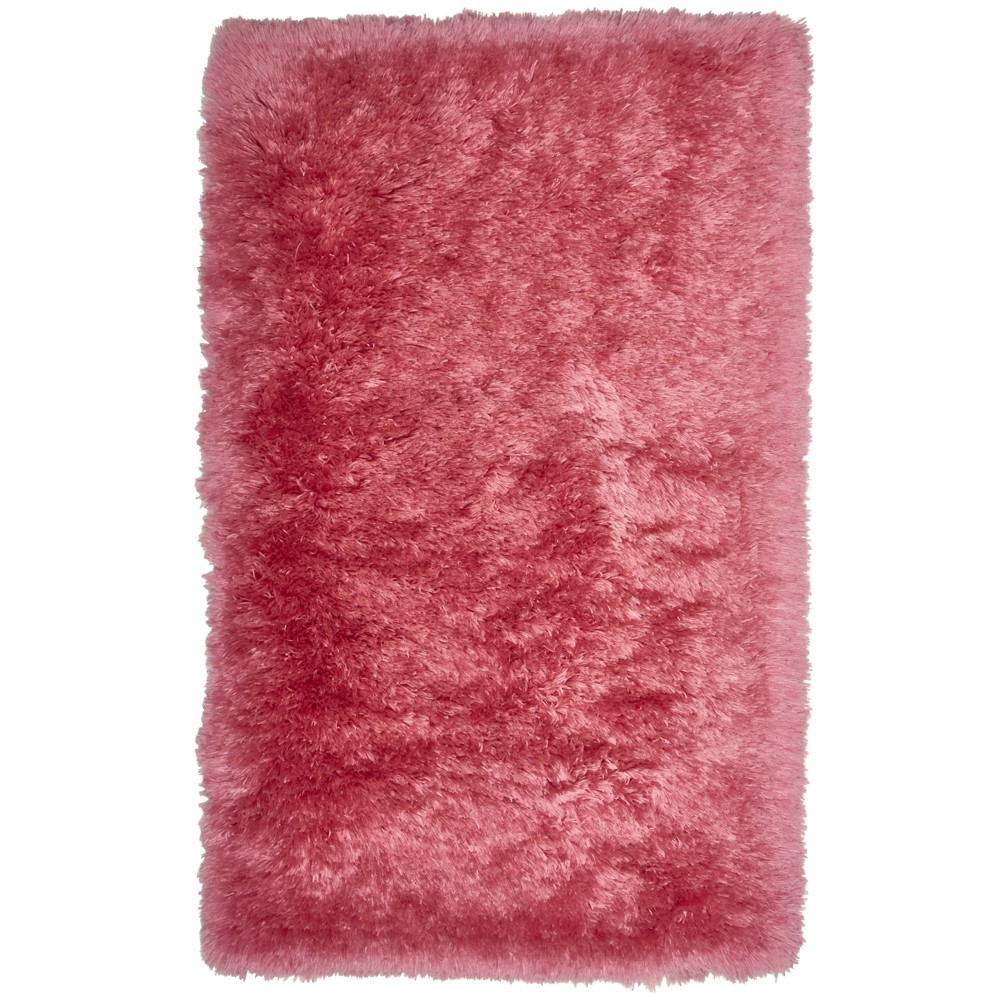 Image of Nicole Miller Casey Silla 2'x3' Kids Shag Accent Rug Pink - Home Dynamix