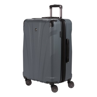 "SWISSGEAR 24"" Cascade Hardside Checked Suitcase - Dark Gray"