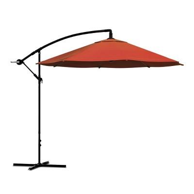 Offset 10' Aluminum Hanging Patio Umbrella - Pure Garden