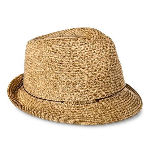 Women s Gold Beaded Sash Fedora Hat - Tan - Merona™   Target 29f242a2b4e