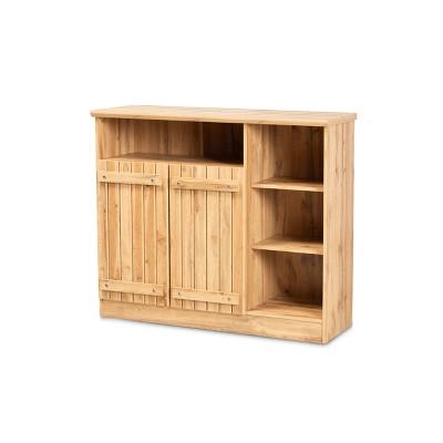 2 Door Eren Farmhouse Wood Dining Room Sideboard Buffet - Baxton Studio