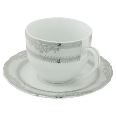 Ten Strawberry Street Vanessa Paltinum Ballet Cup and Saucer Set of 6