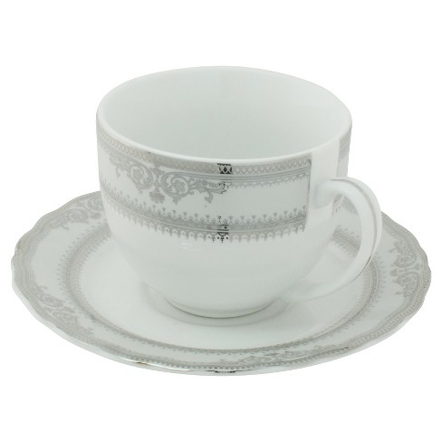 Ten Strawberry Street Vanessa Paltinum Ballet Cup and Saucer Set of 6 - image 1 of 2