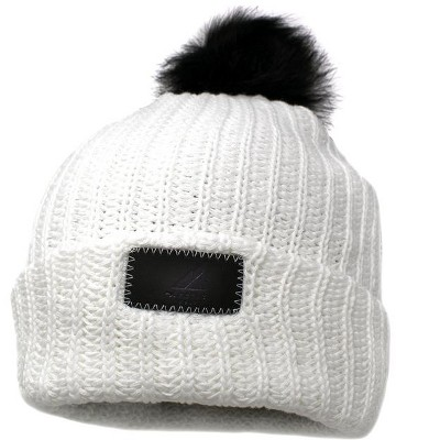 Arctic Gear Adult Cotton Cuff Winter Hat with Pom