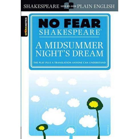 A Midsummer Night's Dream (No Fear Shakespeare) - (Sparknotes No Fear Shakespeare) by  Sparknotes - image 1 of 1