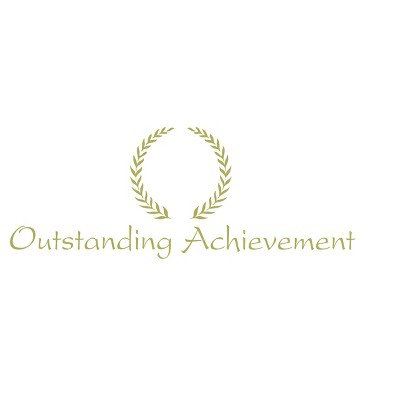 Hammond And Stephens Outstanding Achievement Embossed Award, 11 x 8-1/2 inches, Gold Foil, pk of 25