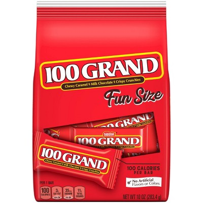 100 Grand Fun Size Chocolate Candy - 10oz