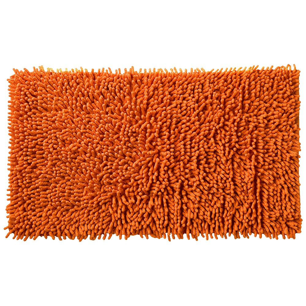 Image of All That Jazz Fuzzy Bath Rug Orange - Creative Bath