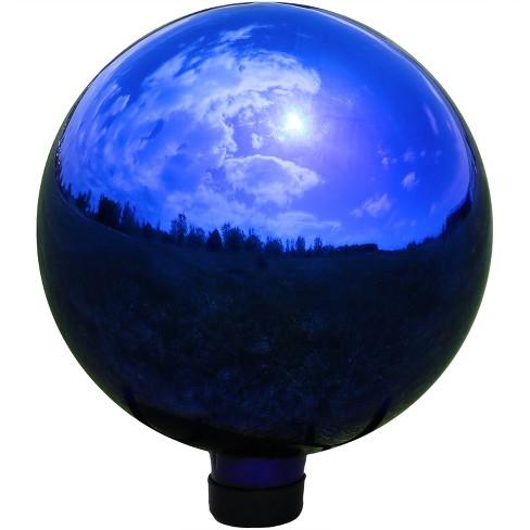 10 H Glass Gazing Ball Mirrored Blue Sunnydaze Decor Target