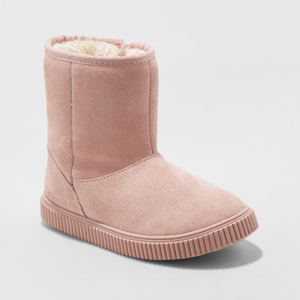 Girls' Eunice Suede Fashion Boots - Cat & Jack Pink 6