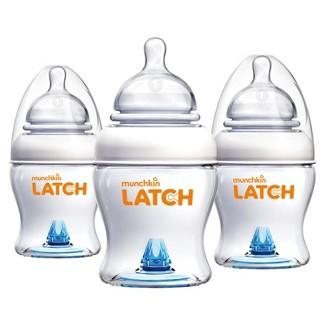 Munchkin LATCH™ 3pk 4oz BPA Free Baby Bottle Set
