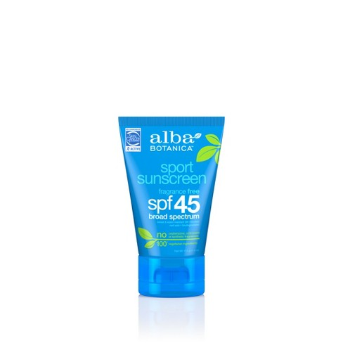 Alba Botanica Emollient Sunscreen Sport Lotion - SPF 45 - 4oz - image 1 of 3