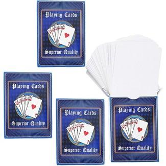 Blue Panda Blank DIY Playing Cards (4 Decks) : Target