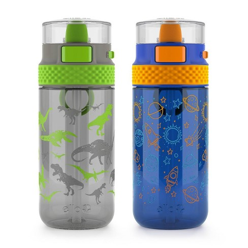 Ello 16oz 2pk Plastic Stratus Tritan Kids Water Bottle - image 1 of 3