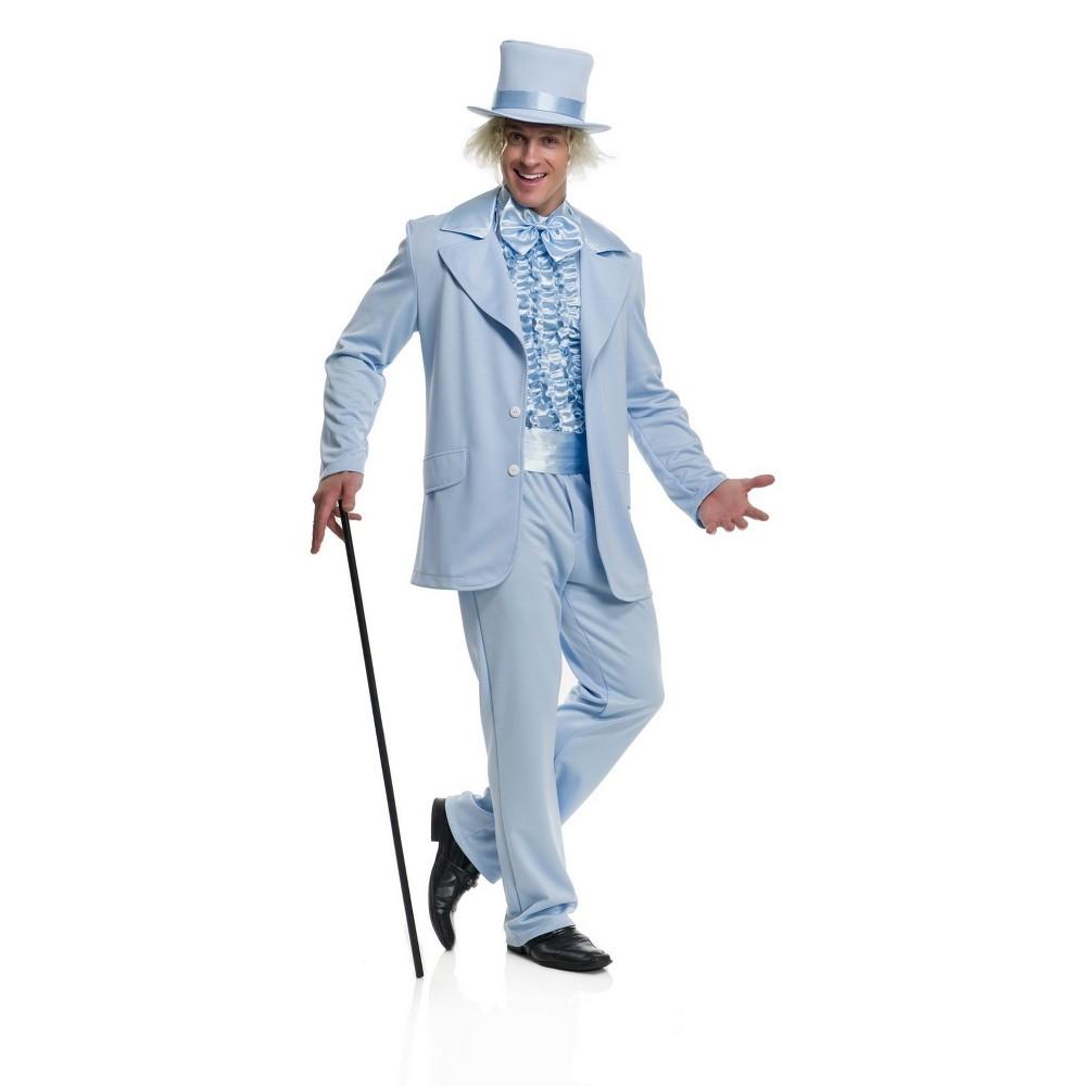 Men's Funny Tuxedo Halloween Costume L - Charades Costumes, Blue