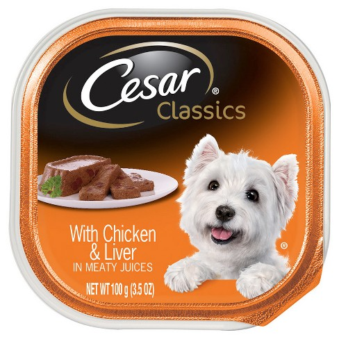 CESAR Canine Cuisine Chicken and Liver Wet Dog Food - 3.5oz - image 1 of 2