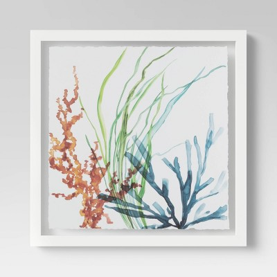 "20""x20"" Garden Watercolor Framed Wall Print- Threshold™"